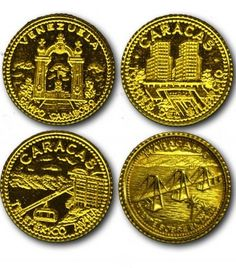 Monedas de oro. Venezuela
