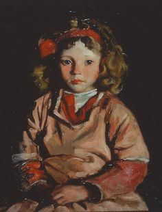 robert henri, portrait of a girl -- clothing palette