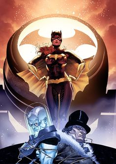 Batgirl, Mr Freeze & Penguin by Clay Mann