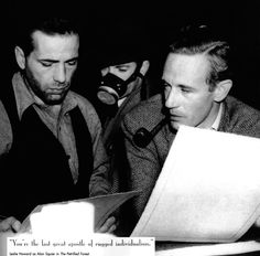 """interrmezzo: """" Script Conference Humphrey Bogart and Leslie Howard run through a scene from The Petrified Forest. Is Howard's pipe that noxious? Vintage Hollywood, Classic Hollywood, Edward G Robinson, I Look To You, The Artist Movie, Leslie Howard, Marilyn Monroe Photos, Humphrey Bogart, Lauren Bacall"""