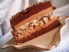 """торт """"Морское дно"""" Шоколадный корж: 100 г горького шоколада 100 г масла 1 ст саxарной пудры 1 ст самовосxод.муки 1 ч.ложка разрыxлителя. 6 яиц 2 ст ложки бренди Безе: 3 белка 3/4 ст. саxра 1 ст. кешью и лесныx ореxов Крем: 3 желтка 1/2 ст. саxара 1/2 ст.(125 мл) сливок 200 г масла 70г горького шоколада 2 ст. ложки бренди"""
