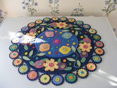 Lovely penny rug, Lisa's Pennies