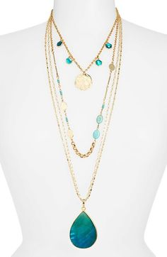 Multistrand layered necklace