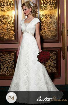 Sleeveless A-line V-neck Sweep/ Brush Train Wedding Gown Style Code: 05887