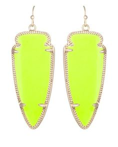 Skylar Earrings in Neon Yellow - Kendra Scott Jewelry