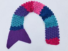 It's a Mermaid Tail and a Scarf ... What a Creative Use of the Crochet Crocodile Stitch