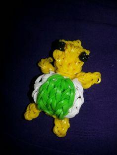 Schildpad van loom bands
