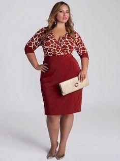 Love this red giraffe print..just a little, but not too much.  Lyssa Dress. IGIGI by Yuliya Raquel. www.igigi.com