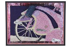 """Mosaikbilder - Mosaik Wandbild """"Rosa Star"""" - Lichtelement - ein Designerstück von Mandury bei DaWanda"""