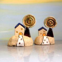 Keramik Miniaturhaus Ton Strandhauptdekor Ferienhaus von ednapio