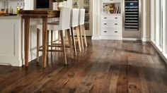 #HomerWood Hickory Graphite Flooring in a kitchen.