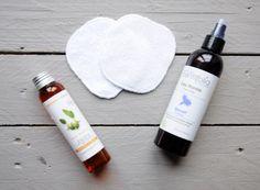 Démaquillage à l'huile - lingettes lavables, huile végétale et hydrolat