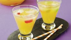 Punch up your Halloween party with this chilled drink – a magical concoction of pineapple juice, limeade and ginger ale.