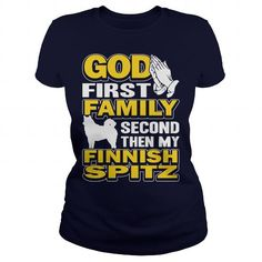 Finnish Spitz Dog T Shirts, Hoodies, Sweatshirts. GET ONE ==> https://www.sunfrog.com/LifeStyle/Finnish-Spitz-Dog-129586516-Navy-Blue-Ladies.html?41382