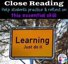 What an informative blog post on Close Reading.  If you're wondering how to start Close Reading or implement Close Reading, you may want to check it out!