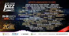 All about Cape Town International Jazz Fest and all the best music festivals around the world, including news, lineups, locations and tickets! Curiosity Killed The Cat, Chaka Khan, Festivals Around The World, Jazz Festival, Cape Town, Good Music, African