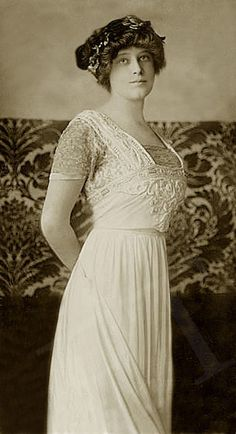 Madeleine Astor, who survived the Titanic.  Her husband, John Jacob Astor IV did not.