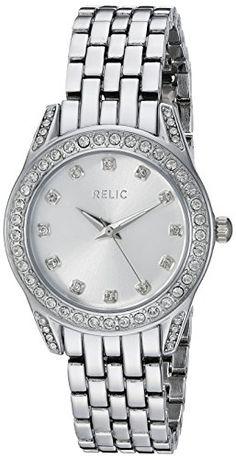 Relic Women's ZR34331 Analog Display Analog Quartz Silver Watch. Case size: 30 mm. Band width: 13.5 mm. Analog-quartz Movement. Case Diameter: 30mm. Water Resistant To 99 Feet.
