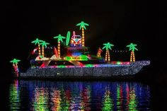 madeira beach christmas boat parade | boats follow a circular path from newport pavilion to each end of the ...