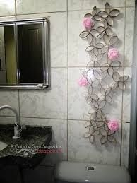 Resultado de imagem para arte parede rolos de papel higienico