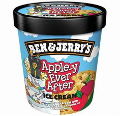 Ice-cream maker Ben & Jerry's is showing its support of gay marriage by renaming flavour 'Oh!' as 'Apple-y ever after', ahead of plans to legalise gay marriage being discussed by the UK Government next week. Pie Flavors, Ice Cream Flavors, Apple Pie Ice Cream, Cream Pie, Ice Cream Brands, Wedding Cake Decorations, Ice Cream Maker, Ben And Jerrys Ice Cream, New Flavour