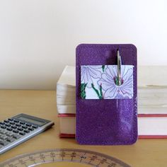 purple sparkle pocket protector has been on my wish list for too long!  I need this baby for my white coat.