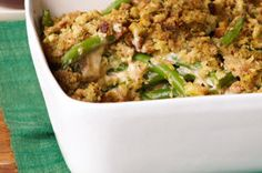 These crisp stuffing-topped cheesy beans are sure to appeal to even the fussiest eaters.