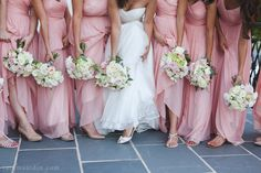 Bridesmaid bouquets and bridal bouquet. Spring/Summer color