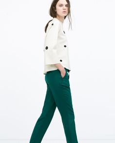 Image 4 of LOOSE TROUSERS WITH GROSGRAIN RIBBON from Zara