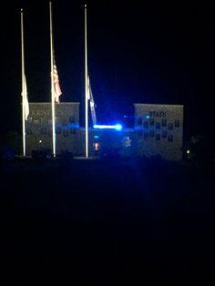 Trooper Island...memorial ceremony. Recognizing the fallen Heros