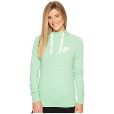 3d7be60643ba Nike Sportswear Pullover Hoodie (Tourmaline Sail) Women s Sweatshirt ( 55)  ❤ liked on Polyvore featuring tops