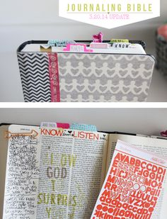 SO LOVE this...just had to share with all my Bible loving friends. Now I want a new ESV Journal Bible.