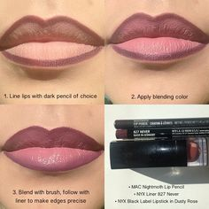 Nyx Cosmetics, Makeup Dupes, Beauty Makeup, Elf Dupes, Eyeshadow Dupes, Basic Makeup Tutorial, Lip Liner Tutorial, Lip Liner Tips, Nyx Lip Liner