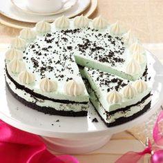 Grasshopper Cheesecake Recipe from Taste of Home