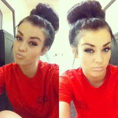 Perfect bun and makeup