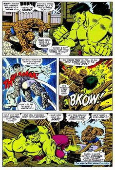 The Thing Vs The Hulk by Jim Starlin