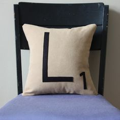 Letter L Pillow, $25, now featured on Fab.