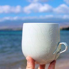 Ocean, Porcelain Ceramics, Mugs, Ios App, Tableware, Instagram Posts, How To Make, Handmade, Strong