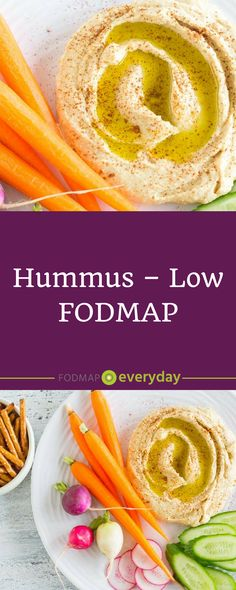 Is Hummus Low FODMAP? Yes, in small amounts. This rich and creamy chickpea based dip is enlivened with lemon juice, cumin, garlic-infused olive oil and tahini. Up to 1/4 cup (42 g) of canned and drained chickpeas are allowed. #hummus #recipe #summerrecipe #lowFODMAP #FODMAPdiet #FODMAPeveryday #dairyfree #vegan #glutenfree