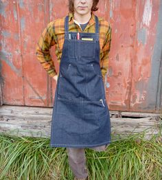 Unisex Denim Work Apron | Bow + Arrow | Scoutmob Shoppe |