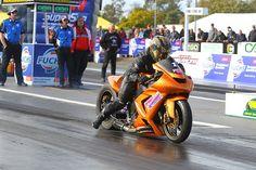 Daniel Sekli - the 2012 Willowbank Raceway Gasoline Alley Harley Davidson Modified Bike Track Champion (credit - dragphotos.com.au)