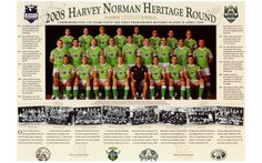 FLASHBACK: 2008 Canberra Raiders team photo during the Centenary of Rugby League. Who was your favourite Raider from that squad?