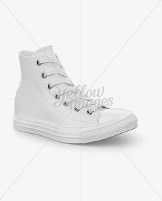 High-Top Canvas Sneaker Mockup – Half Side View