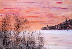 Pink Marina, Acrylic on Canvas, 50 x 70