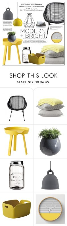 """Modern and Bright"" by dian-lado on Polyvore featuring interior, interiors, interior design, home, home decor, interior decorating, Bloomingville, Melissa, Muuto and Dot & Bo"