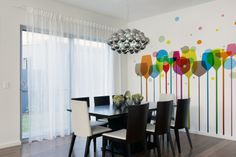 dining room idea photo wallpaper / wall mural #diningroom #photowallpaper #wallpaper #mural #interior   Art Decorators