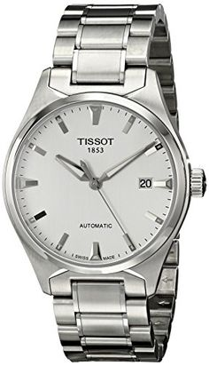 Men's Wrist Watches - Tissot Mens T0604071103100 TTempo Analog Display Swiss Automatic Silver Watch >>> Visit the image link more details.