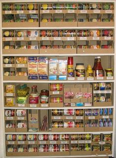 Home food storage organizers. I'm going to make these this next summe … – Genius Pantry Organization Ideas Food Storage Organization, Pantry Storage, Storage Organizers, Storage Ideas, Kitchen Organizers, Organisation Ideas, Basement Storage, Stair Storage, Storage Shelves