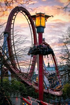What to do in Copenhagen? Spend a night at Tivoli, an amusement park right in the center of the city!