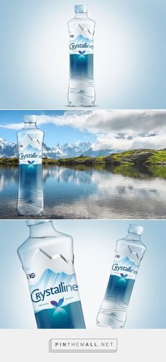 Packaging of the World is a package design inspiration archive showcasing the best, most interesting and creative work worldwide. Water Packaging, Water Branding, Bottle Packaging, Coffee Packaging, Food Packaging, Drinking Water Bottle, Water Bottle Labels, Water Bottles, Bottled Water